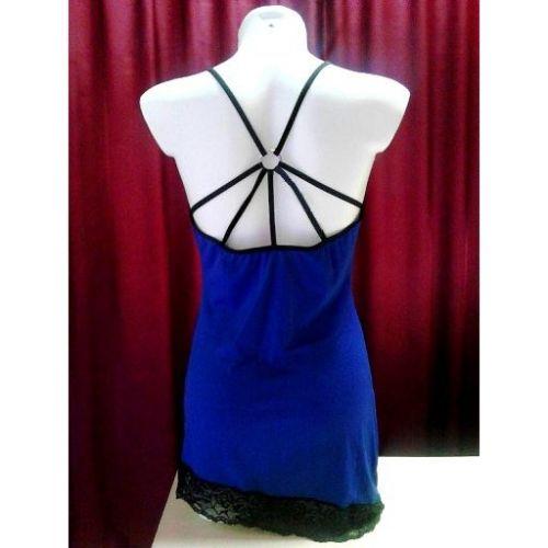 Синяя сорочка Cora L/XL
