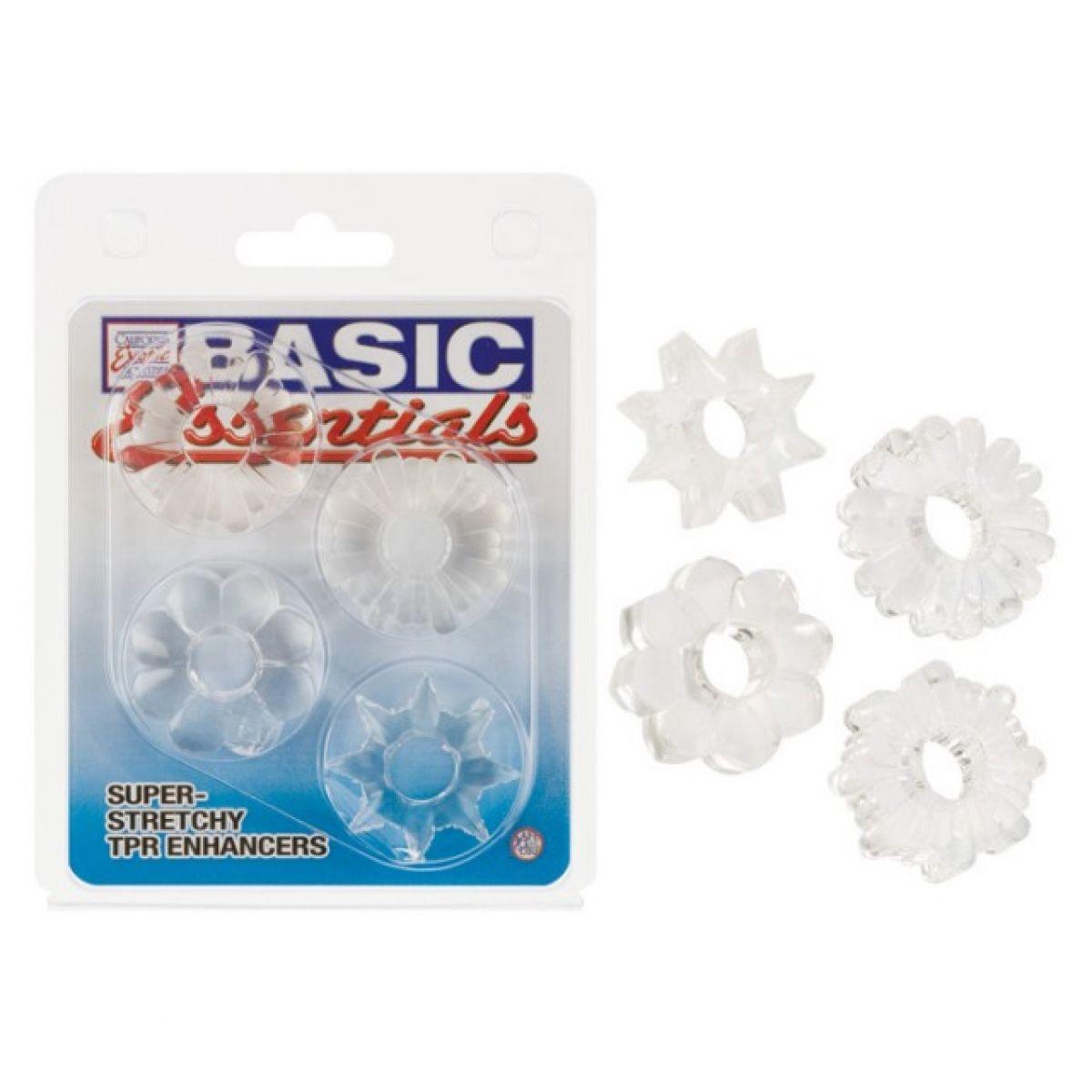 Комплект из четырех прозрачных колец Basic