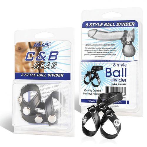 Разделитель мошонки из искусственной кожи на клепках 8 Style Ball Divider