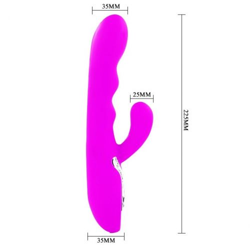 Многоскоростной перезаряжаемый вибратор с клиторальным стимулятором