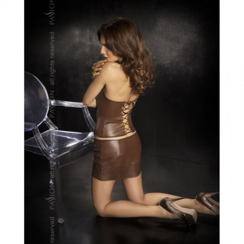 Эротический коричневый комплект Nessa S/M