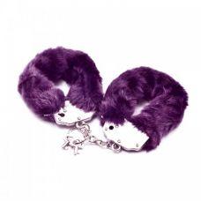Фиолетовые металлические наручники с..