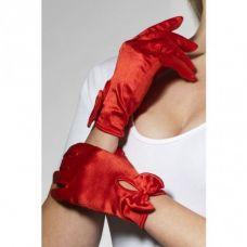 Красные атласные перчатки Леди..