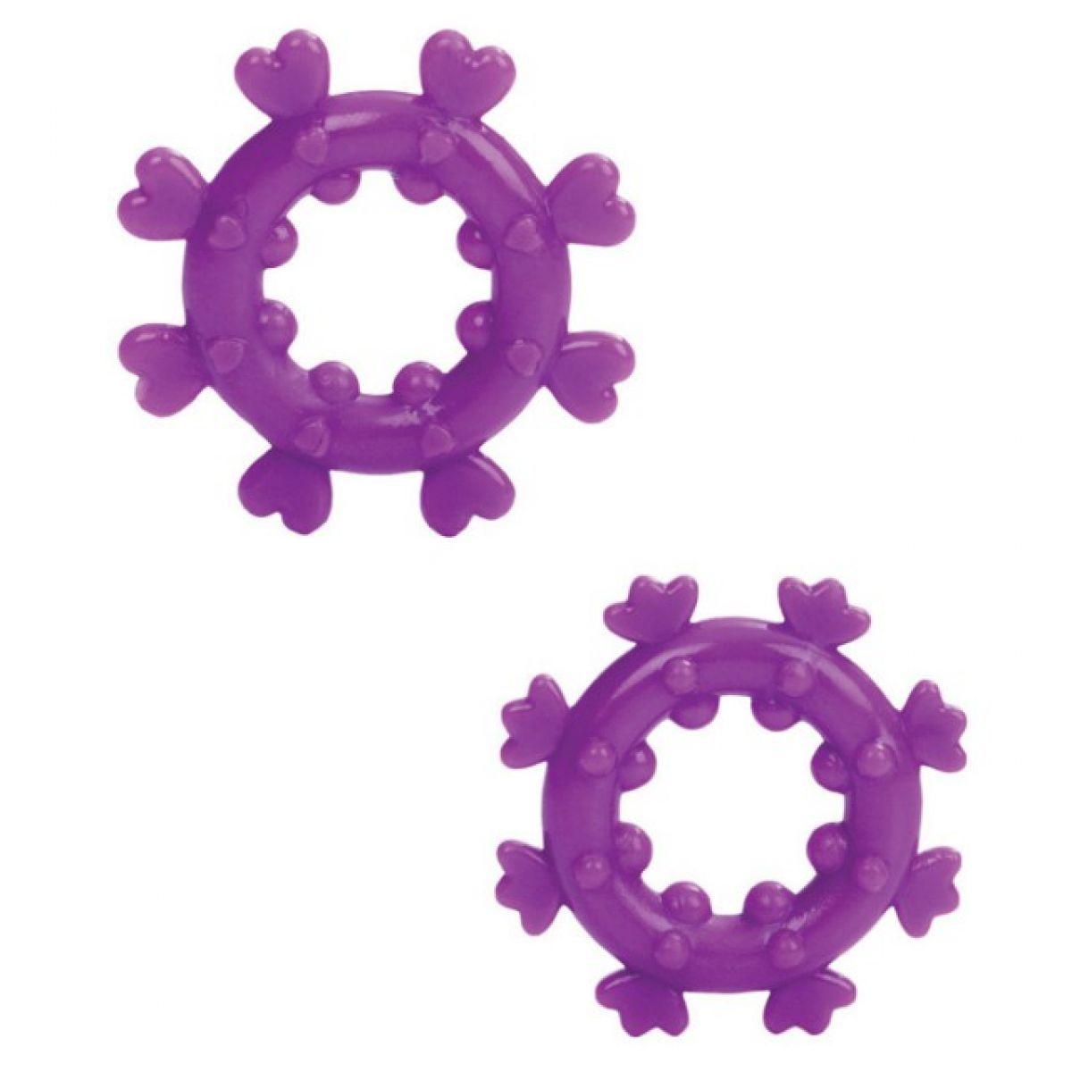 Набор из двух фиолетовых эрекционных колец Magic Love Rings