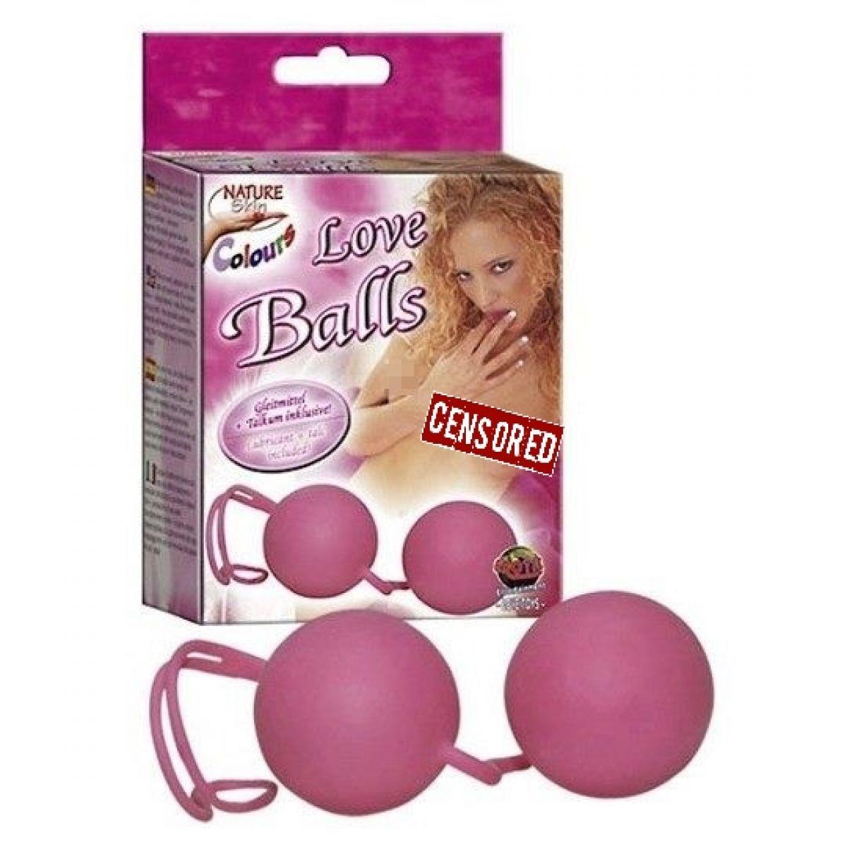 Шарики вагинальные Love Balls розовые