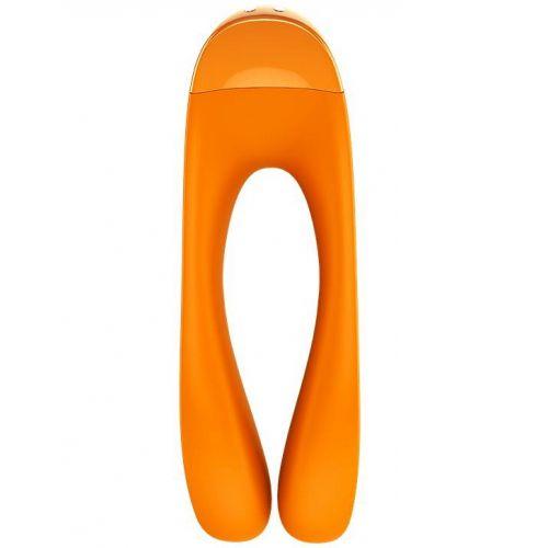 Универсальный перезаряжаемый вибростимулятор Satisfyer Candy Cane оранжевый