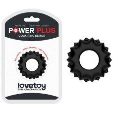 Эрекционное кольцо черное Power Plus..