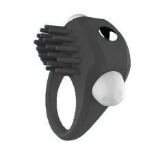 Эрекционное кольцо черное с вибрацие..