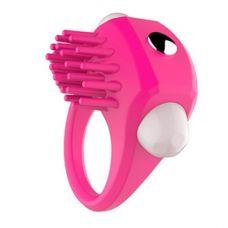 Эрекционное кольцо розовое с вибраци..