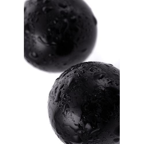 Вагинальные шарики Sexus Glass, стекло, чёрные, Ø 3,2 см