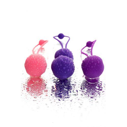 Набор вагинальных шариков LEROINA by TOYFA Bloom, силикон, фиолетово-розовый